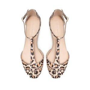 Zara Basics leopard print sandals